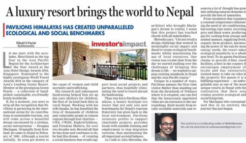 A Luxury Resort Brings the World to Nepal