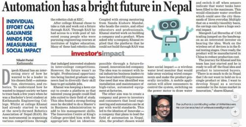 Automation Has a Bright Future in Nepal