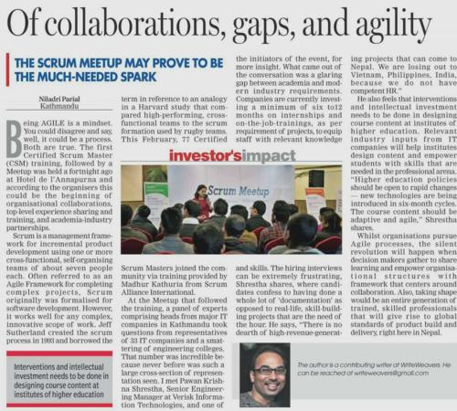 Of Collaborations, Gaps, and Agility