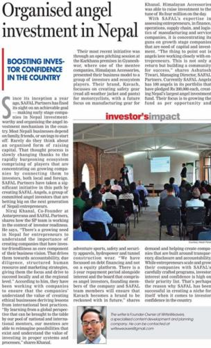 Organised Angel Investment in Nepal